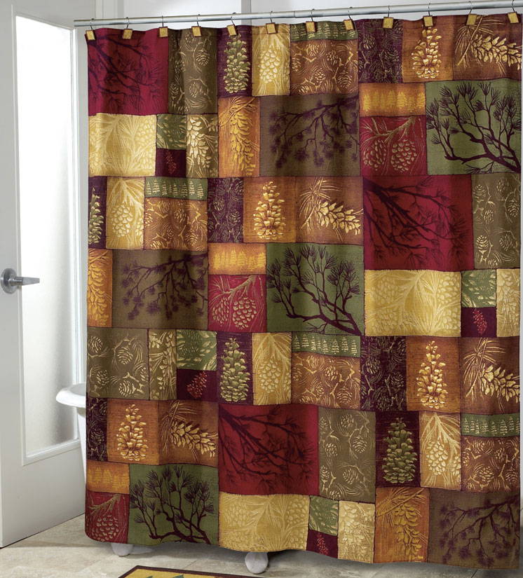 Rustic lodge curtains best home design 2018 for Adirondack bathroom ideas