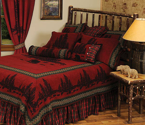 Wooded River Rustic Lodge Bedding