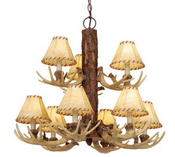 Rustic light fixtures candle and hurricane lighting chandelier pendants aloadofball Gallery