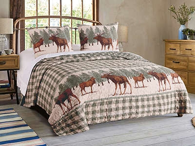 Moose Creek Quilt Set and Acessories