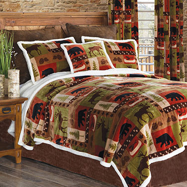Wildlife Patch Plush Bedding
