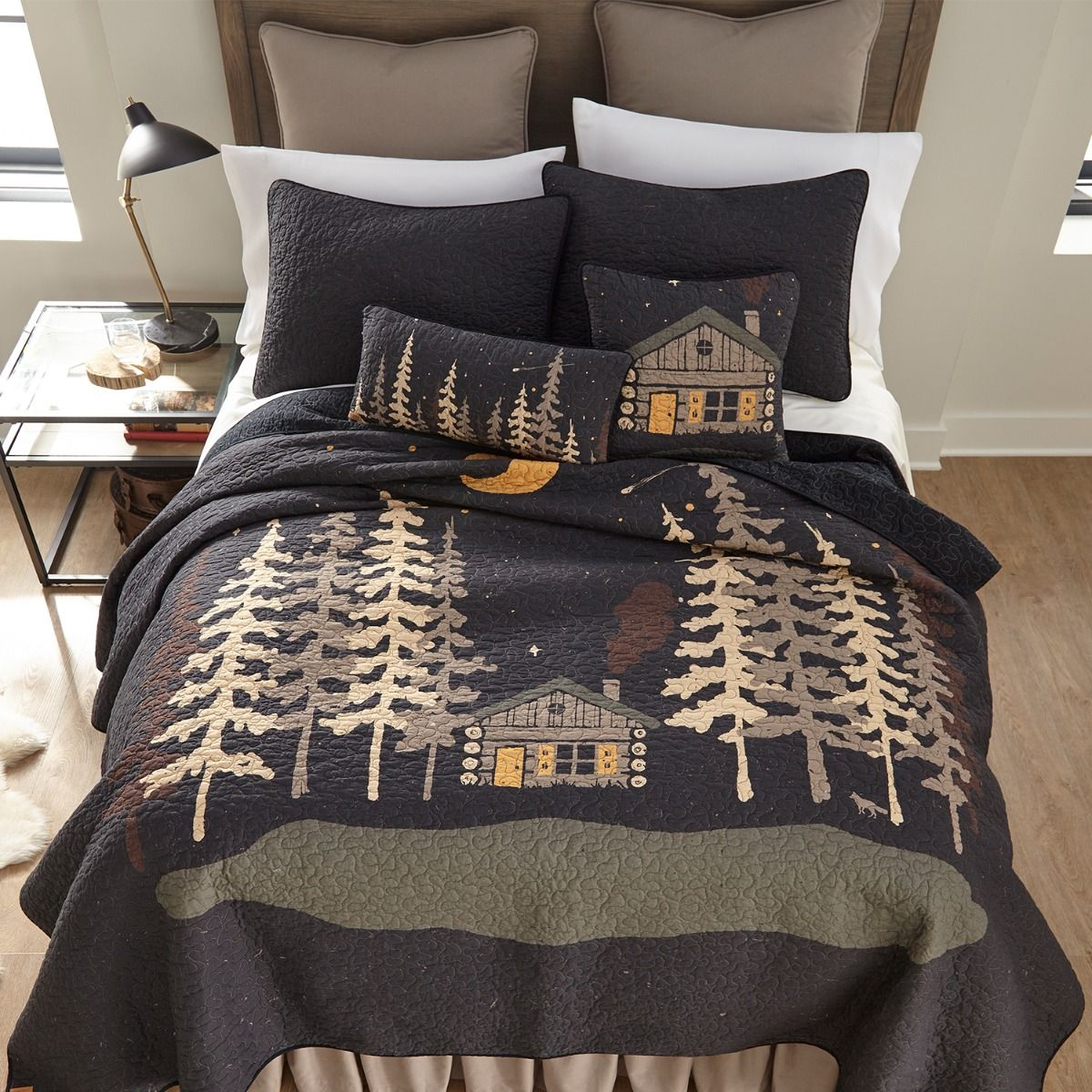 Midnight Cabin Bedding