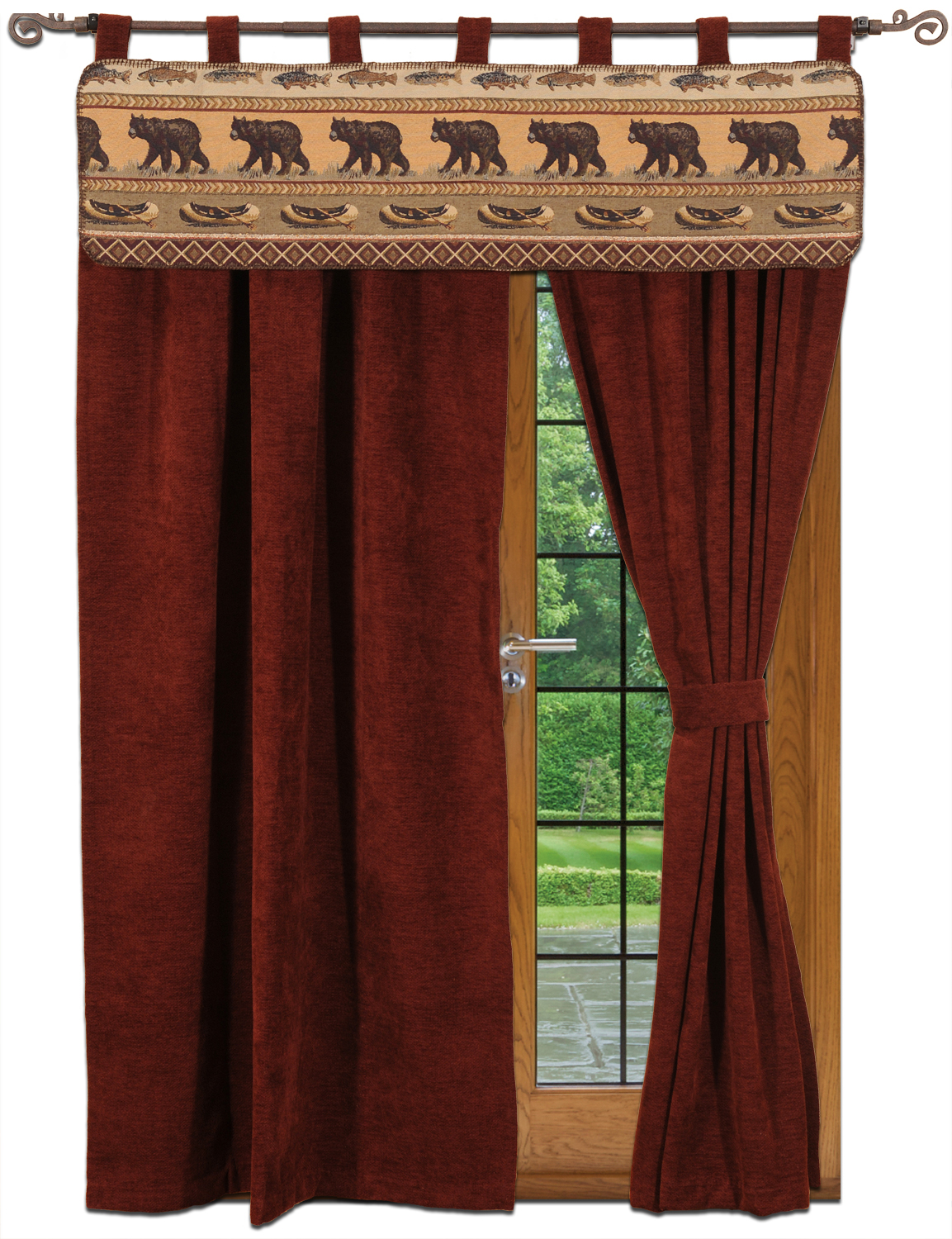 Bear Creek Country Kitchens Rustic Cabin Lodge Curtains And Drapery