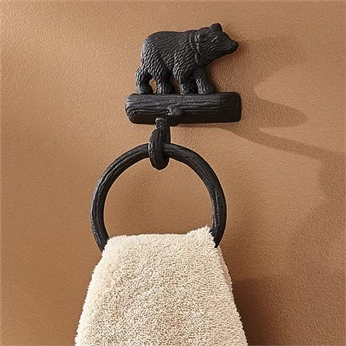 Park Designs Black Bear Toilet Paper Holder Lodge Decor 21-247