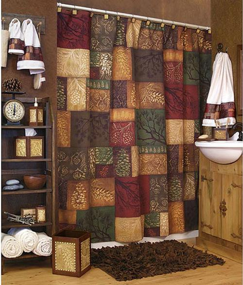 adirondack pine shower curtain