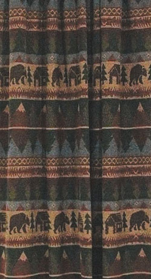 cabin bear shower curtain 72