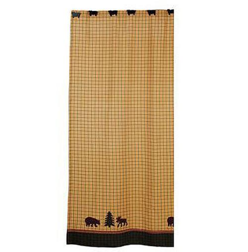 Bear And Moose Sherwood Shower Curtain