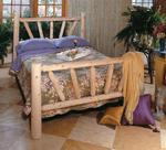 Pine Sunburst Log Bed