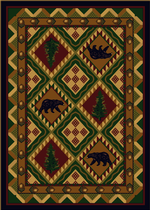 Quilted Forest Rug - Woodland