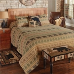 Bear Track Queen Bedspread