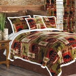 Wildlife Patch Plush Bedding Set