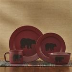 Crimson Linville Bear Dinnerware