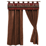 Bourbon Faux Leather Curtain / Yellowstone Valance