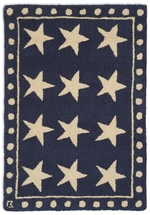 Stars on Blue Rug Series