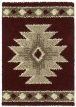 SOUTHWEST ICON  RUG SERIES - CRANBERRY