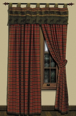 McWoods 1 Curtain Drapery and Shower Curtain