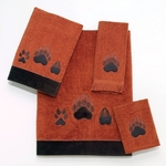 Paw Print - Copper Bath Towel Set