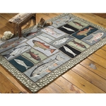 Mountain Trout Hooked Rug Series