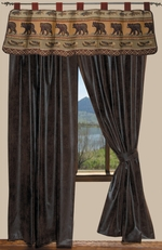 Kodiak Creek Drapery, Valance  & Shower Curtain