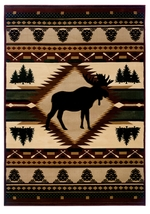 Moose Wilderness Rug Collection