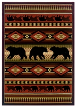 Native Bear Contour Rug Collection