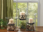 VOTIVE GLASS CYLINDERS & CANDLE PANS