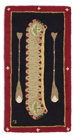 Red Long Boat Rugs