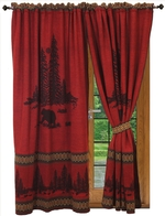 Wooded River Bear Drapery & Shower Curtain