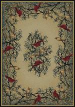 Cardinal in Pine Rug Series