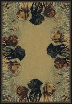 Labs in Marsh Rug Series