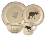 Rustic Retreat Moose Dinnerware