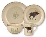 Rustic Retreat Moose Dinnerware