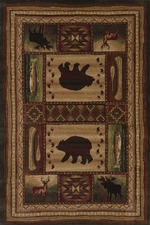 Bear Wilderness Rug Series - 5 sizes