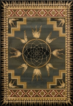 Dream Catcher Green Rug Series
