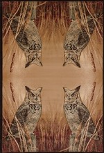 Millette's Horned Owl Rug