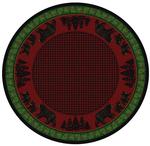Bear Family Cabin Rug Series - Multi