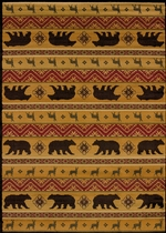NORDIC BEAR RUG - SPICE