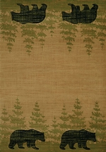 Wooded Bear Beige Rugs - 5 Sizes