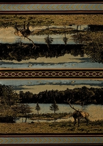 Antler Lake Blue Rug Series