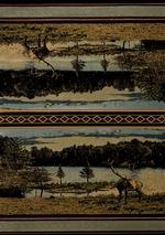 Antler Lake Blue Rug Series