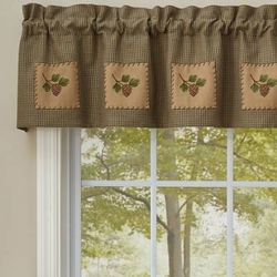 Pineview Lined Patch Valance - 60