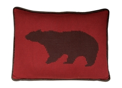 Hand Knitted Bear Pillow