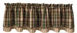 Scotch Pine Lined Layered Valance 72
