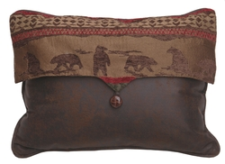 Cascade Lodge Envelope Bear Pillow - 16