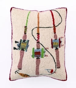 Fishing Rods Hooked Pillow