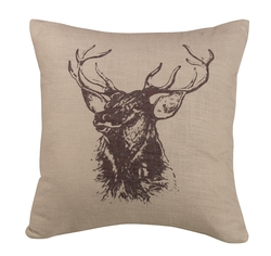 Deer Bust Pillow - 18