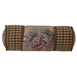 Crestwood Pinecone Neck Roll Pillow