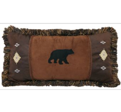 Bear and Diamond Pillow