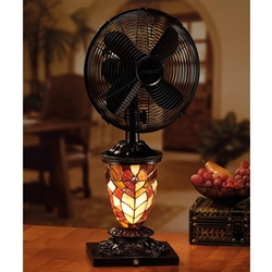 Mosaic Glass Table Fan