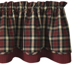 Concord Lined Layered Valance - 72